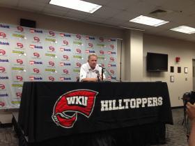 WKU coach Bobby Petrino spoke to members of the media ahead of Saturday's game vs. Morgan State.