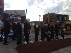 Political, business, and education leaders from Bowling Green and WKU broke ground Tuesday on a new 108-room hotel.
