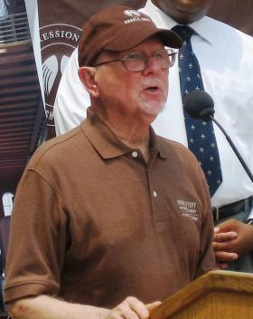 Bourbon legend Lincoln Henderson, speaking in July