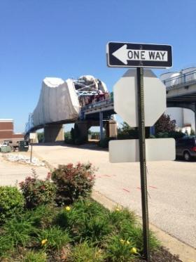 The Owensboro Blue Bridge is closed until Nov. 15 while it's getting a fresh paint job.