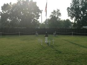 The Wall That Heals is being displayed at the Grandview Ball Field in Spencer County, Indiana, through Sept. 15.