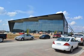Owensboro's convention center contains 60 feet of glass.