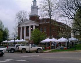The Bounty of the Barrens Farmers' Market is currently held along the courthouse square in downtown Glasgow.