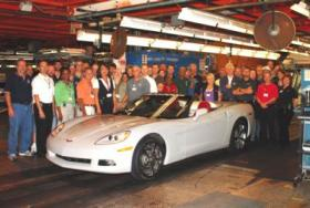 The General Motors plant in Bowling Green produces the Corvette.