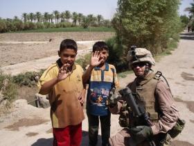 Kent Johnson, now a WKU senior, served as a U.S. Marine in As Saqlawiyah, Iraq.