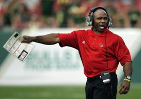Louisville coach Charlie Strong has interviewed for the coaching position at the University of Texas.