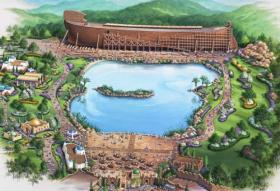 An artist's rendering of the Ark Encounter theme park, planned for northern Kentucky