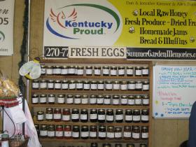 Homemade jams are on of the offerings at the Community Farmer's Market in Bowling Green.