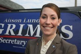 Kentucky Secretary of State and U.S. Senate candidate Alison Lundergan Grimes.