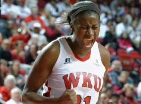Lady Toppers' guard Alexis Govan pictured earlier this season in a game against Louisville.