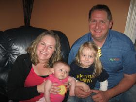 Jerry and Julie Gilliam with their daughters, 6-month-old Clara and 2-year-old Sarah Kate.