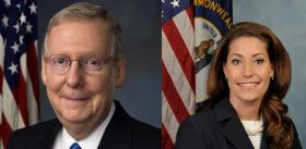 U.S. Senator Mitch McConnell and Kentucky Secretary of State Alison Lundergan Grimes