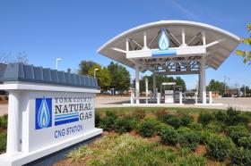 A natural gas filling station