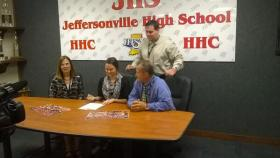 Shelby Osborne signs a letter of intent to play football for Campbellsville Univesrity