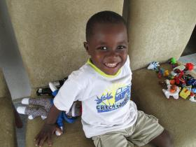 Malachi Meacham, at his orphanage in the Democratic Republic of the Congo. Bethany and Jon Meacham of Louisville adopted Malachi over a year ago, but he remains in the DRC.