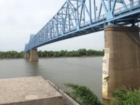 The lights atop the Cary Bridge in Owensboro have been out since the bridge was closed for re-painting in 2013