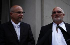Timothy Love, left, and Larry Ysunza are one of the couples from Kentucky challenging the state's same-sex marriage ban.