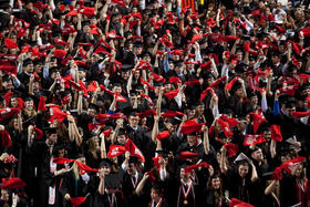 Over 76 percent of those who earn a bachelor's degree from WKU are working in Kentucky within five years.