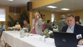 Jefferson County Teacher's Association president Brent McKim; Louisville League of Women Voters president Pat Murrell; pension expert Chris Tobe