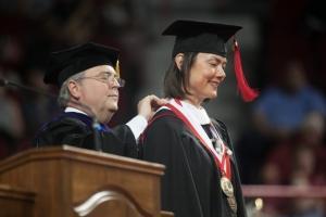 Kentucky Supreme Court Chief Justice John D. Minton, Jr. awards Rachel Hopkin