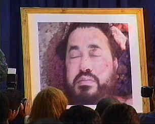 The body of Abu Musab Al-Zarqawi, formerly the head of Al-Qaeda in Iraq