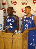 Kentucky's Robert Buckner and AJ Slaughter answer questions after Saturday's loss.