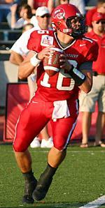 WKU quarterback Justin Haddix