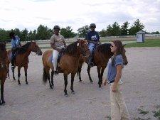 Participants learning the ropes at the Kentucky Horse Park in Lexington