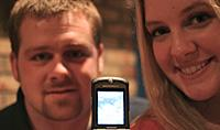 Missy, her husband Josh, and an ultrasound image of their child.