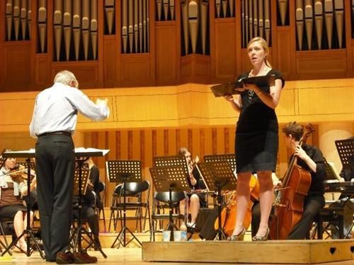 Laura Atkinson, performing in South Korea