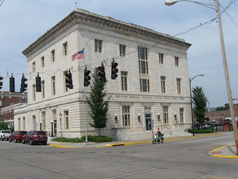 The Federal Courthouse in Bowling Green where Judge Russell has heard some high-profile cases.