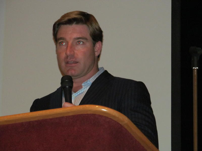 Attorney General Jack Conway addresses teens about the danger of prescription abuse.