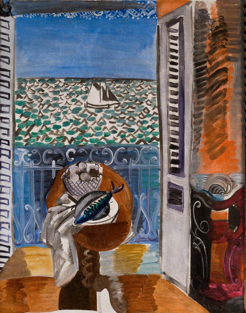 """View through a Window, Nice"" by Raoul Dufy"