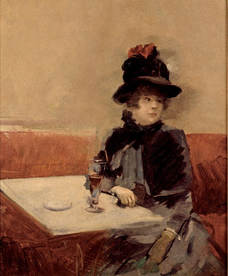 """Woman in a Cafe"" by Jean-Louis Forain"