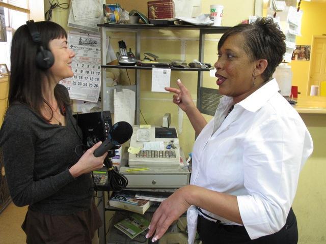 Rachel Hopkin with Anita Hamilton