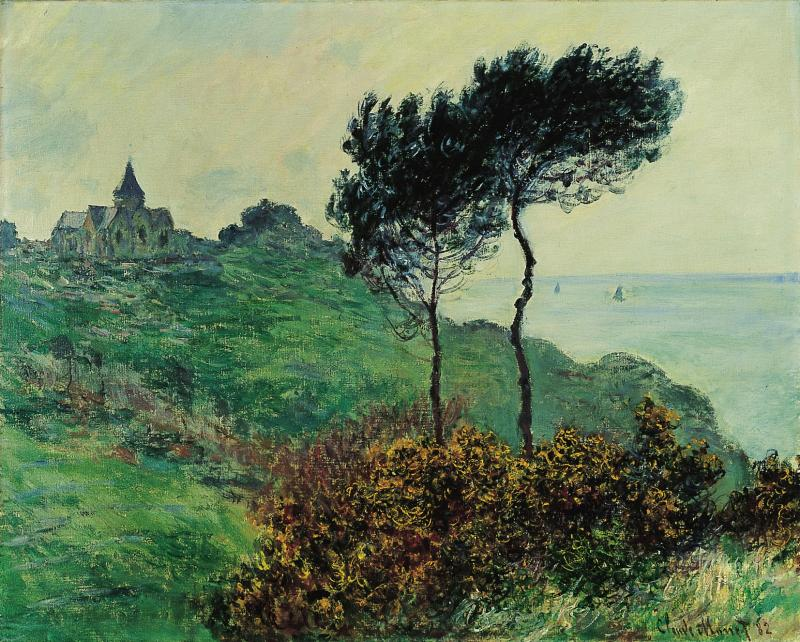 """The Church at Varengeville, Grey Weather"" by Claude Monet"