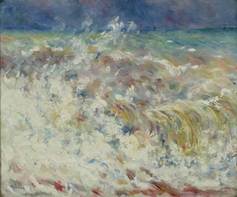 """The Wave"" by Pierre-Auguste Renoir"
