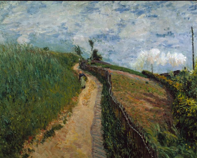 """Hilly Path, Ville d'Avray"" by Alfred Sisley"