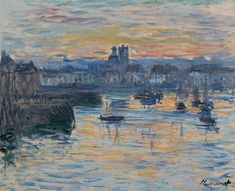 """Port of Dieppe, Evening"" by Claude Monet"