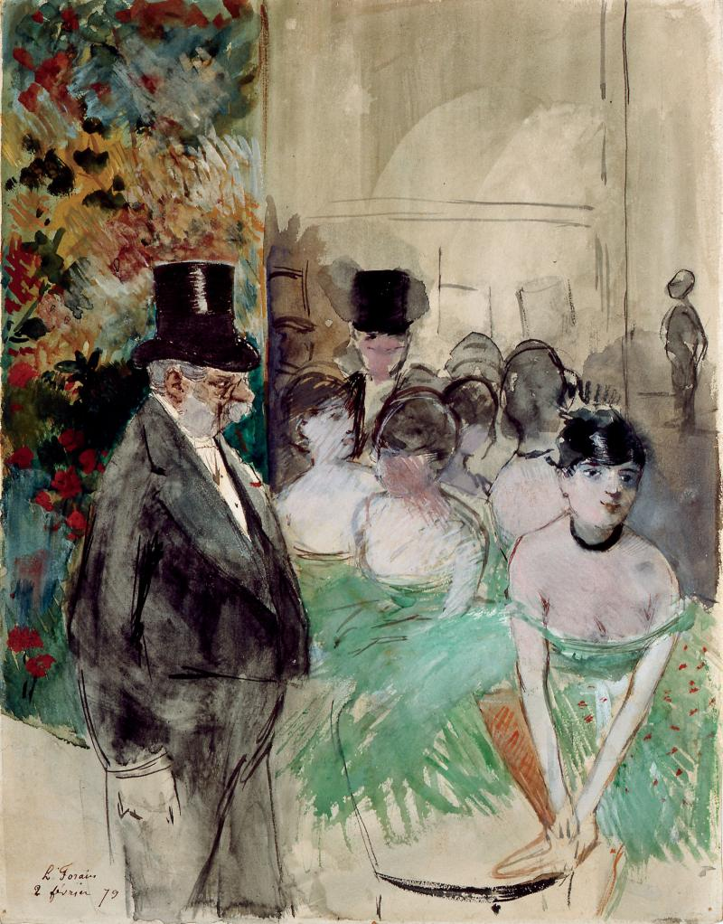 """Intermission. On Stage"" by Jean-Louis Forain"