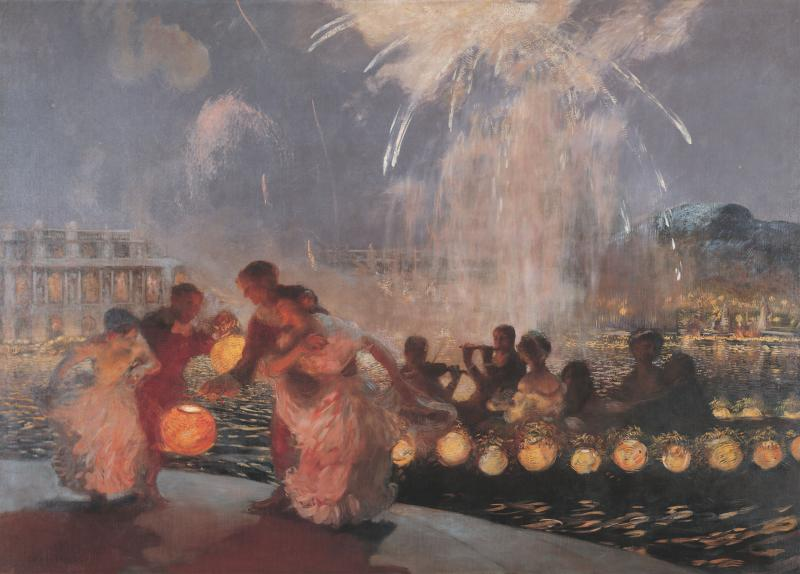"""The Joyous Festival"" by Gaston La Touche"