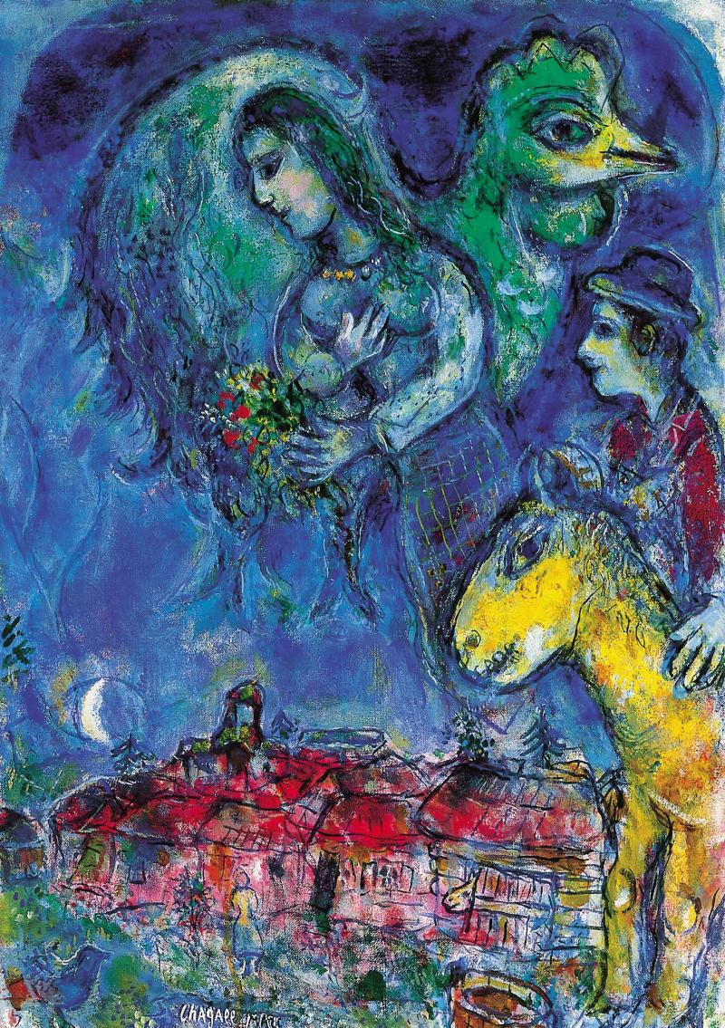 Waiting (L'Attente) by Marc Chagall