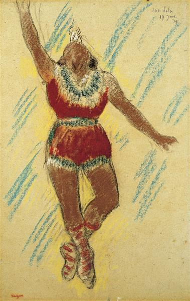 """Study for Miss Lala at the Cirque Fernando"" by Edgar Degas"