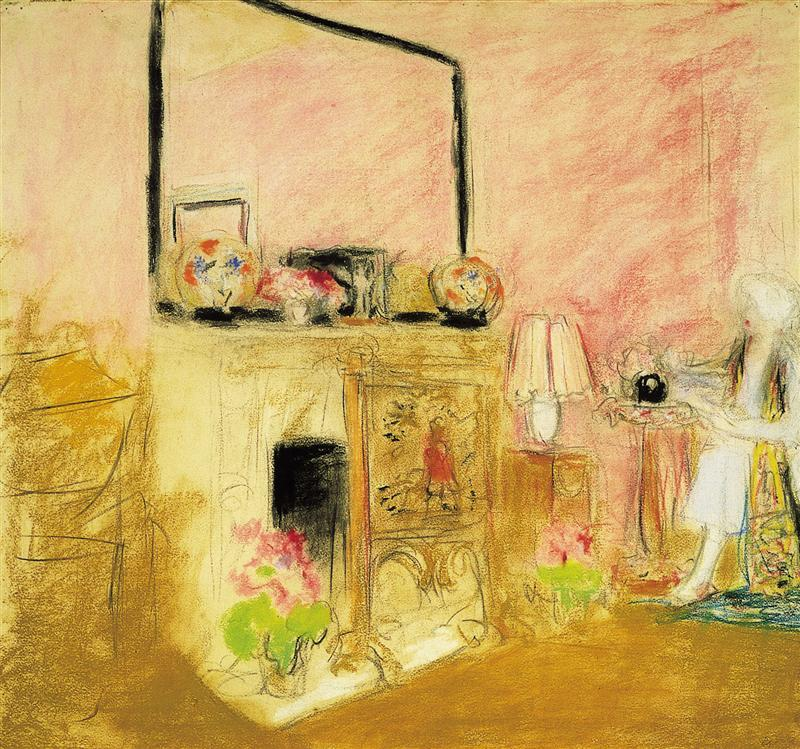"""Madame Hessel in Her Room at the Chateau des Clayes"" by Edouard Vuillard"