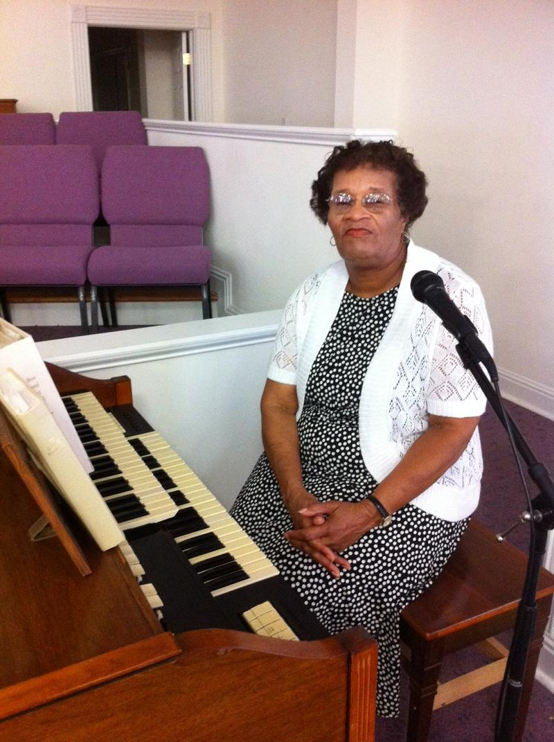 Ms. Margaret Munday still plays the piano at the Macedonia Baptist Church in Auburn, something she has done since she was 6.