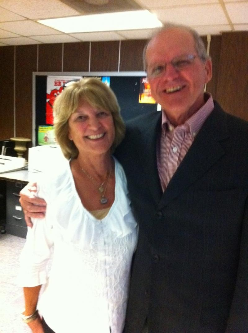 Former WKU football coach Jack Harbaugh and Jackie Harbaugh