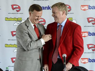 WKU President Gary Ransdell (left), and Athletic Director Todd Stewart
