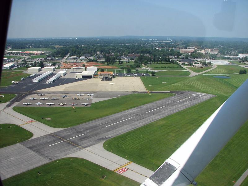 A view of the Bowling Green Regional Airport