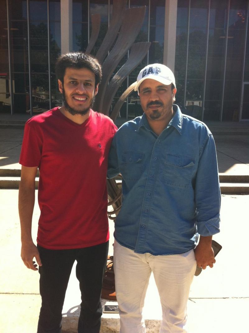 WKU Saudi students Abdulrahman Alfurhud (left), and Faisal Alzomily