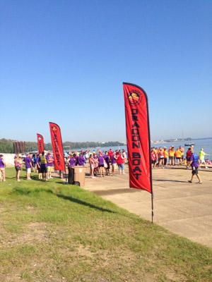 Teams line up alongside the Ohio River in Owensboro